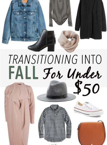 Transitioning Into Fall For Under $50