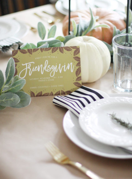 Friendsgiving Inspiration with Basic Invite