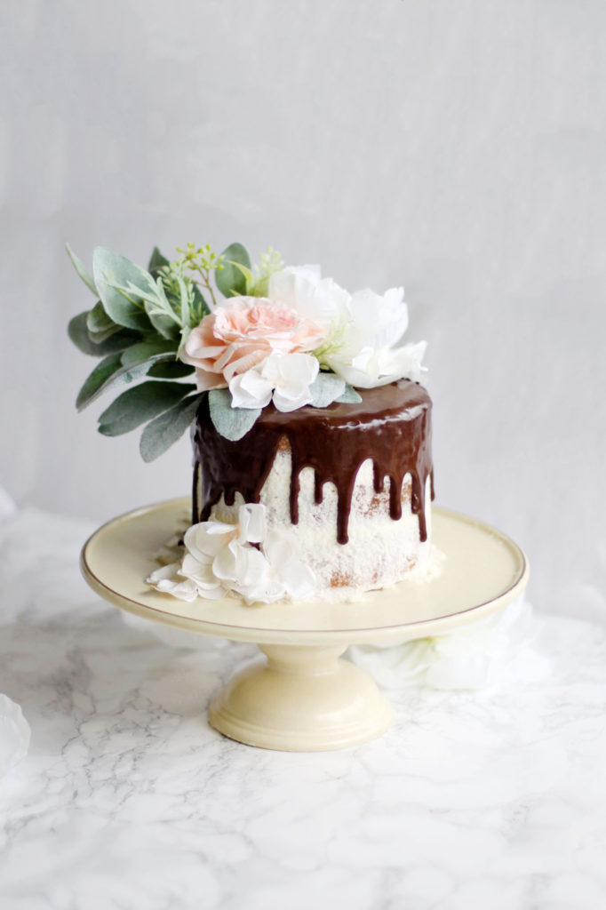 Vanilla Bean Cake With Almond Buttercream and Chocolate Ganache
